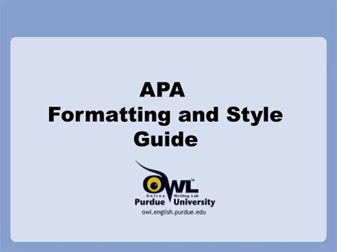 Purdue Owl Apa Research Paper Example