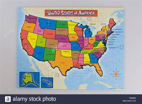 Puzzle, map of the United States of America, USA Stock ...