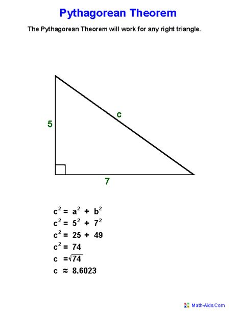 Pythagorean Theorem Definition Worksheets | Places to ...