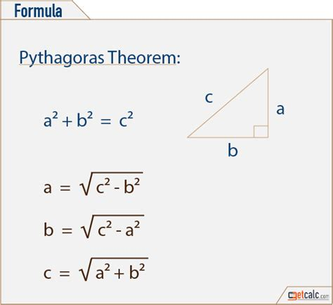 Pythagorean Theorem (Triangle) Calculator