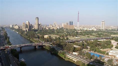 Qasr Al-Nil Bridge General View. Cairo Is The Capital Of ...