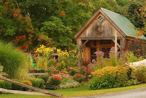 Quaint-Rustic Garden House early Autumn by BlTZy - Pixdaus