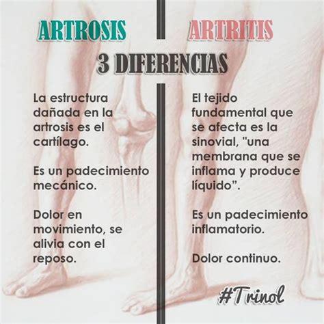 ¿Qué diferencia hay entre artrosis y artritis? Ambas son ...
