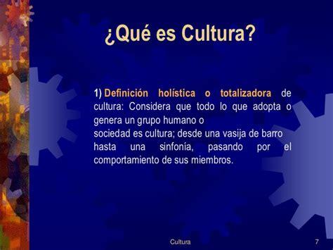 Qué es Cultura