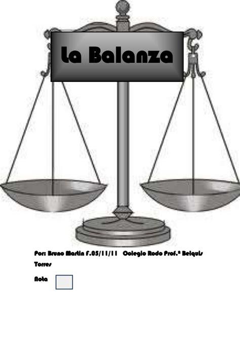Que es la balanza