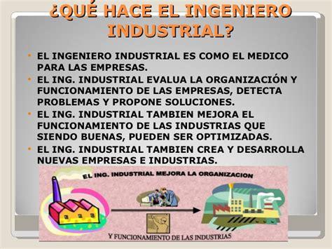 Qué Es La Ingenieria Industrial