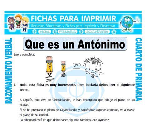 Que Es Un Antonimo   Unifeed.club