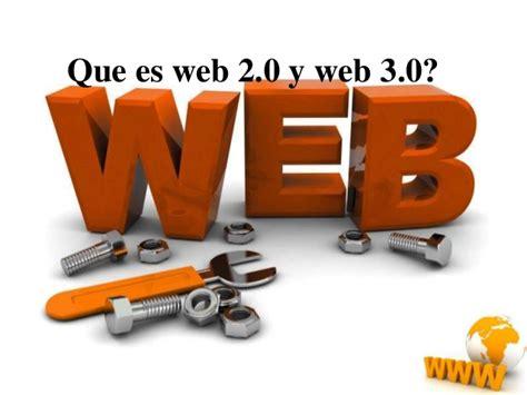 Que es web 2 y 3