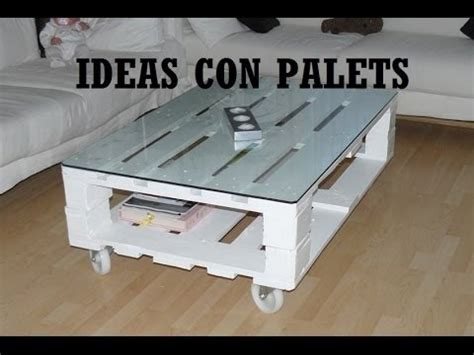 Que hacer con palets? Ideas con palets. - YouTube