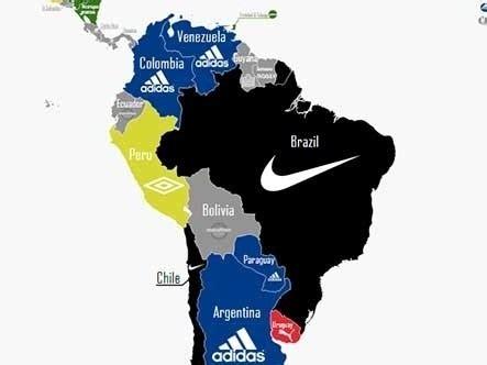 ¿Que marcas usan las selecciones nacionales de fútbol ...