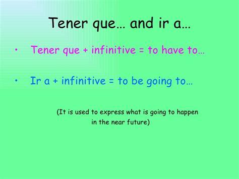 Que Tener Conjugation Related Keywords - Que Tener ...
