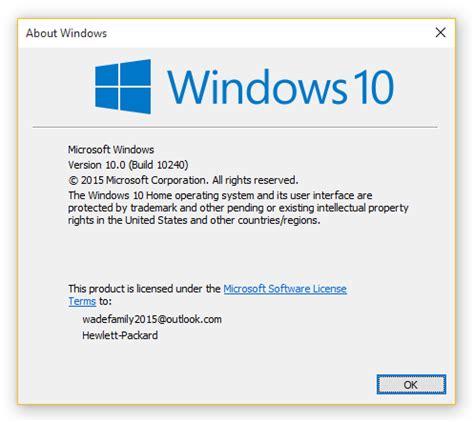 Que versión de windows 10 tengo instalada
