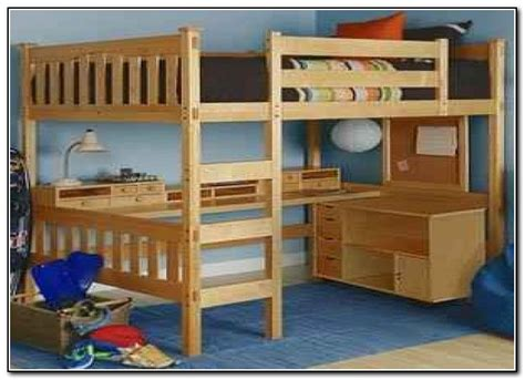 Queen Bunk Bed With Desk Underneath - Beds : Home Design ...