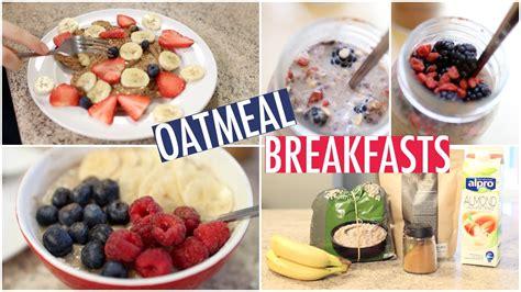 Quick & Healthy Oatmeal Breakfast Ideas!   YouTube