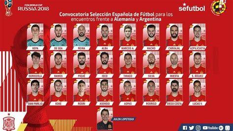 ¿Quién llevará el 7 de España ante Alemania y Argentina?