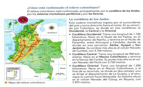 QUINTO GRADO : RELIEVE E HIDROGRAFÍA COLOMBIANA