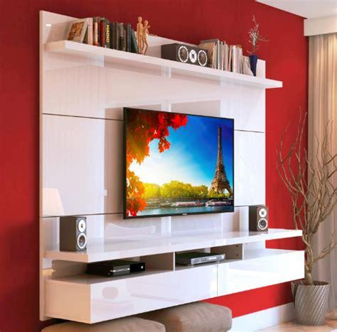 Rack Colgante City 1.8 para TV hasta 55 Blanco   Muebles