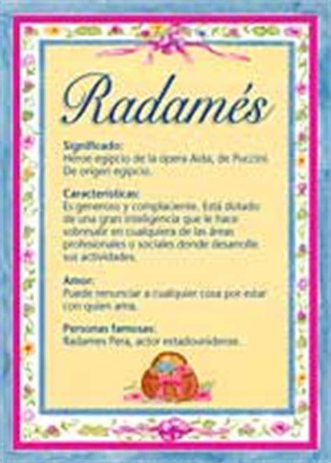 Radamés, significado del nombre Radamés, nombres