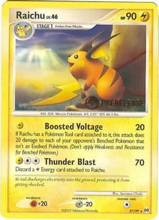 Raichu   27/99   Rare Pre Release   Pokemon Pre Release ...