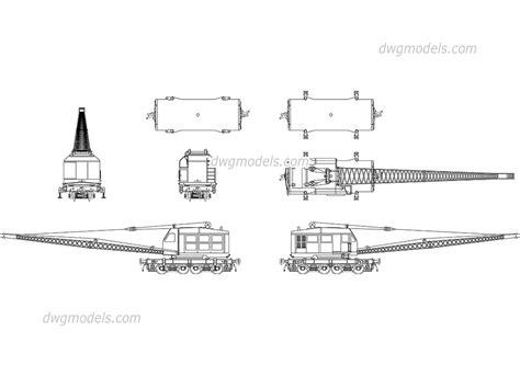 Railroad crane DWG, free CAD Blocks download