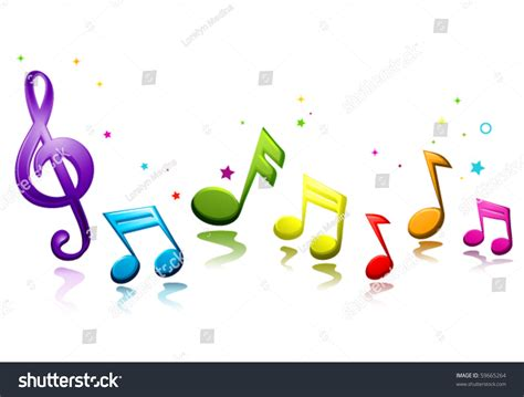 Rainbow Colored Musical Notes Vector Stock Vector 59665264 ...