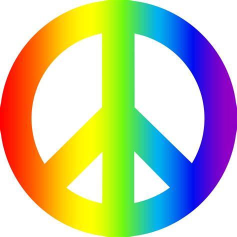 Rainbow Peace Sign   Free Clip Art