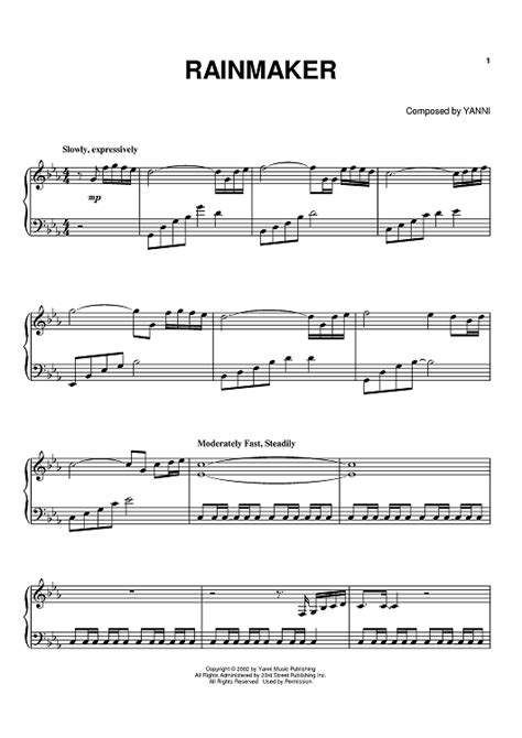 Rainmaker Sheet Music   Music for Piano and More ...