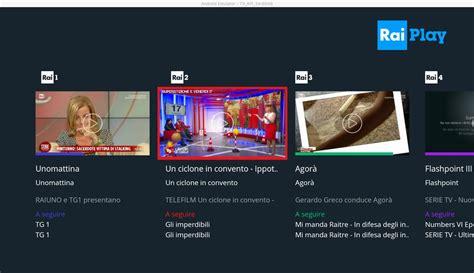 RaiPlay per Android TV APK Download   Free Entertainment ...