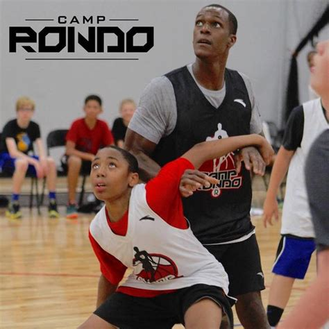 Rajon Rondo Basketball Camp Playing Against Player
