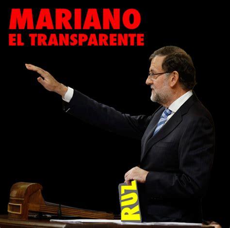 """Rajoy hace transparentes solo los sueldos y cuentas en """"A ..."""