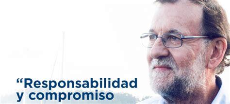 Rajoy:  Responsabilidad y compromiso son frases que ...