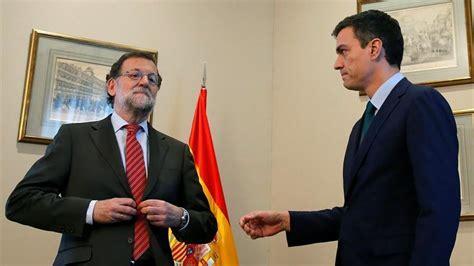 Rajoy se niega a estrechar la mano a Pedro Sánchez