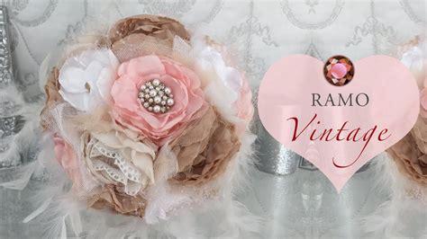 Ramo de novia con flores de tela - YouTube