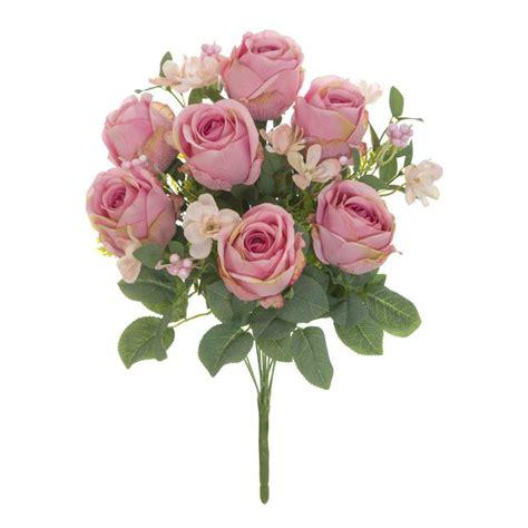 Ramo rosas artificiales garnette rosadas