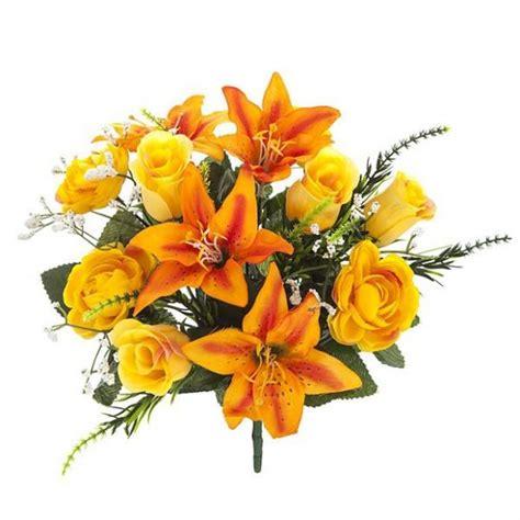 Ramos artificiales. Ramo flores artificiales mini liliums ...