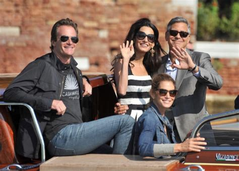 Rande Gerber with wife Cindy Crawford with George Clooney ...