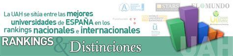Rankings y distinciones   Universidad de Alcalá  Madrid    UAH