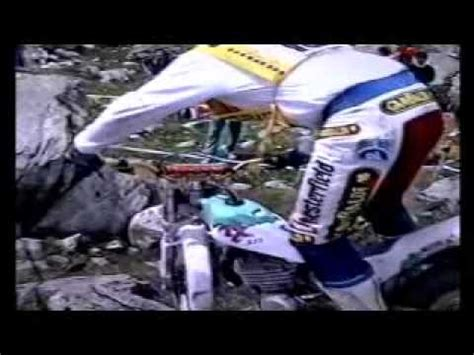 Rare video of Lluis Gallach riding the 1989 Alfer Trials ...