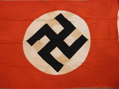 RARE WW2 GERMAN NAZI PARTY COTTON FLAG – JB Military Antiques