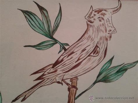raro pintura dibujo a lapiz de un pajaro con ca   Comprar ...