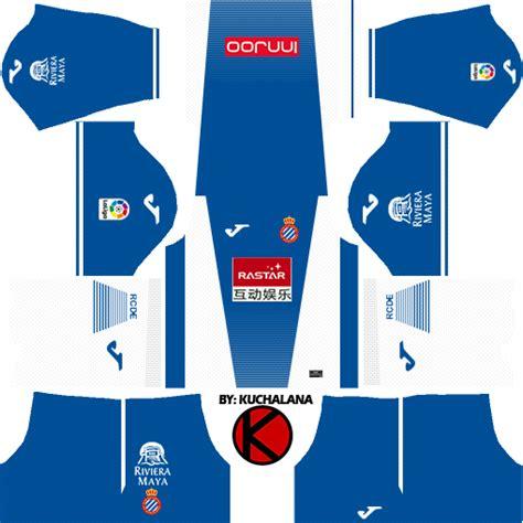 RCD Espanyol 2017/18 - Dream League Soccer Kits - Kuchalana