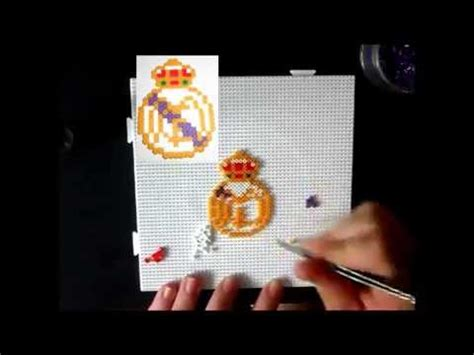 Real Madrid Futbol Club Hama beads mini   YouTube