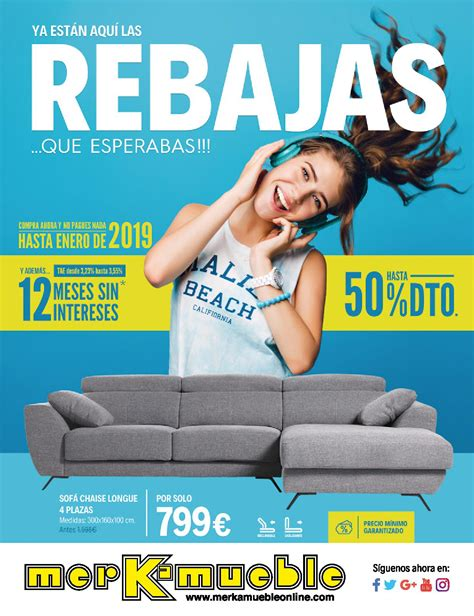 Rebajas de muebles en Merkamueble, verano 2018 | iMuebles