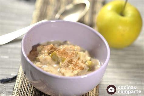 Receta Avena con leche de almendras y manzana | CyC
