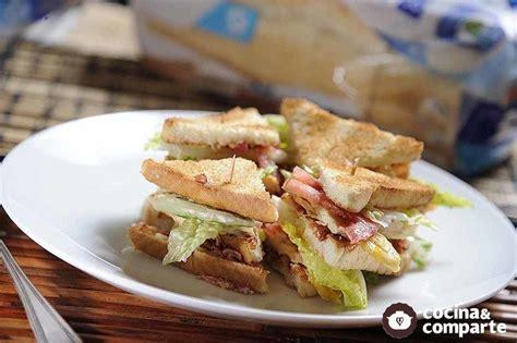 Receta Club sándwich de pollo | CyC