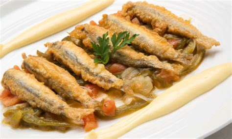Receta de Anchoas con fritada y mahonesa de ajo   Karlos ...
