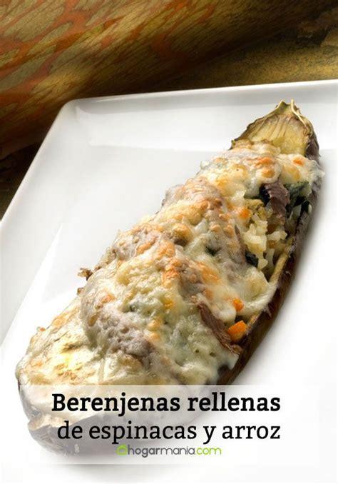Receta de Berenjenas rellenas de espinacas y arroz ...