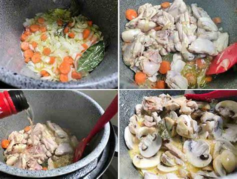 Receta de Blanqueta de pollo o pavo   Divina Cocina