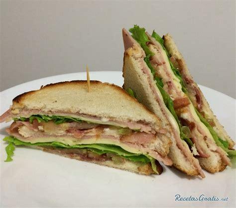 Receta de Club sándwich americano - Fácil