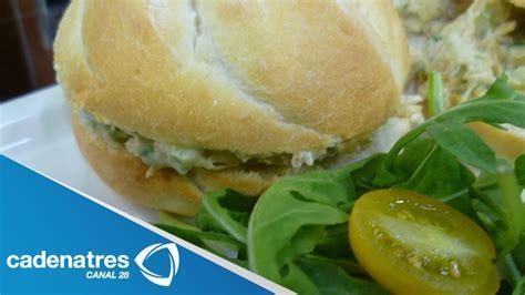 Receta de como preparar sandwiches de ensalada de pollo ...